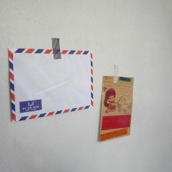 Set of 20 vintage style 16 X 11.5 cm french air mail flat envelope with Airplane graphic inside